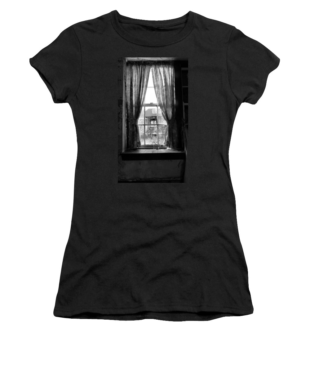 Fine Women's T-Shirt featuring the photograph Deaths Window by Art Dingo