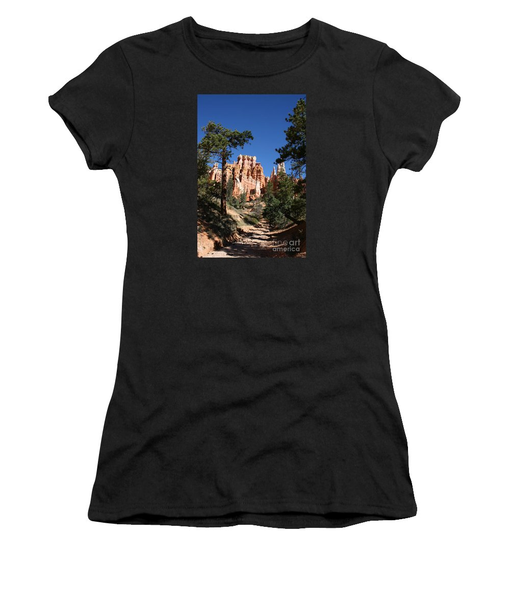 Canyon Women's T-Shirt (Athletic Fit) featuring the photograph Deep In The Bryce Canyon by Christiane Schulze Art And Photography