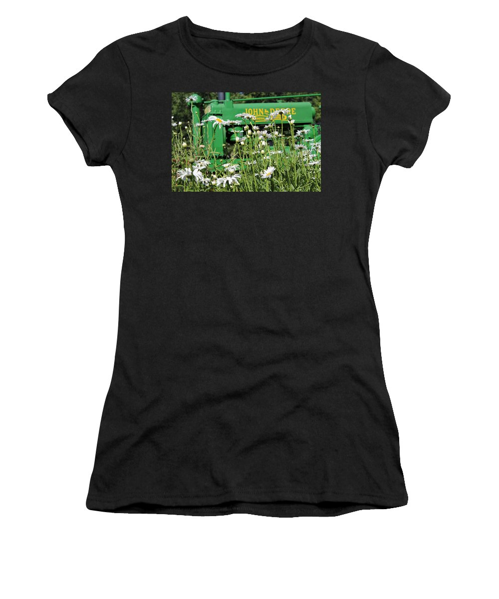 Farm Women's T-Shirt (Athletic Fit) featuring the photograph Deere 1 by Lynn Sprowl