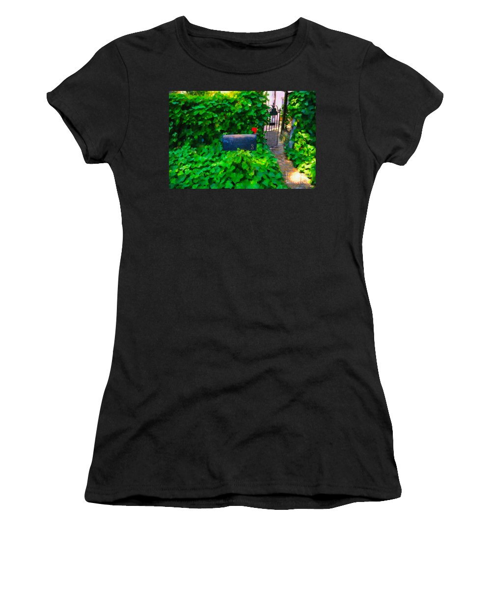 Mailbox Women's T-Shirt featuring the digital art Deliver The Mail by Dale Powell
