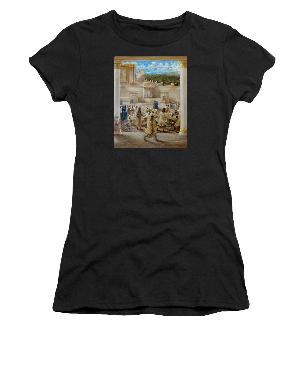 Jesus Women's T-Shirt (Athletic Fit) featuring the painting Deliverance by Robert Wright