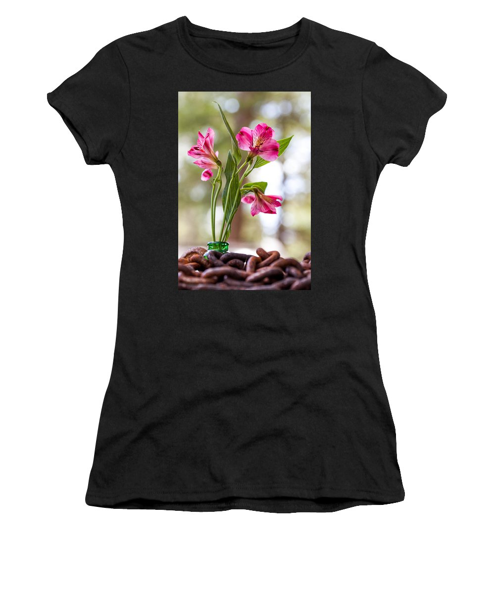 Flower Women's T-Shirt (Athletic Fit) featuring the photograph Diamond In The Rough by Aaron Aldrich