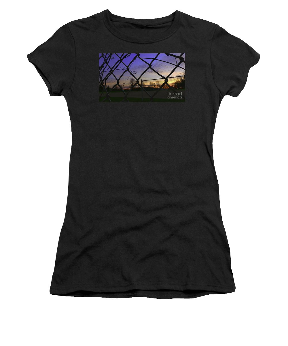 Sunrise Women's T-Shirt (Athletic Fit) featuring the photograph Diamonds In The Sky by Charlie Cliques