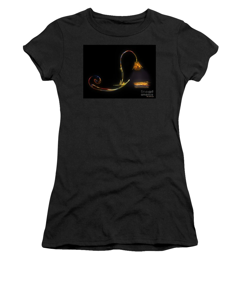 Lamp Women's T-Shirt (Athletic Fit) featuring the painting Do Not Go Gentle by RC DeWinter