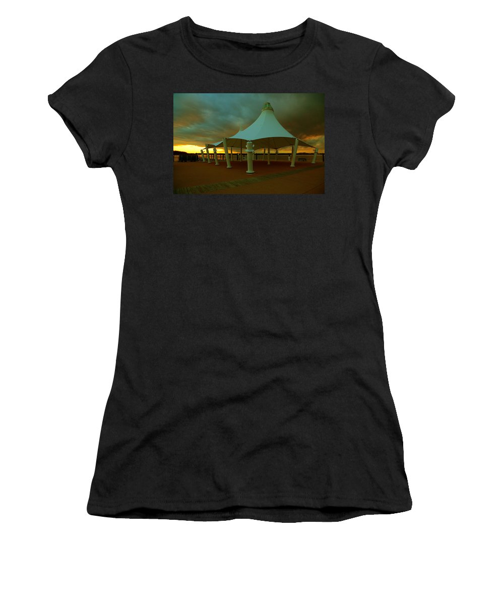 Great Women's T-Shirt featuring the photograph Dock At National Harbor by Scott Fracasso