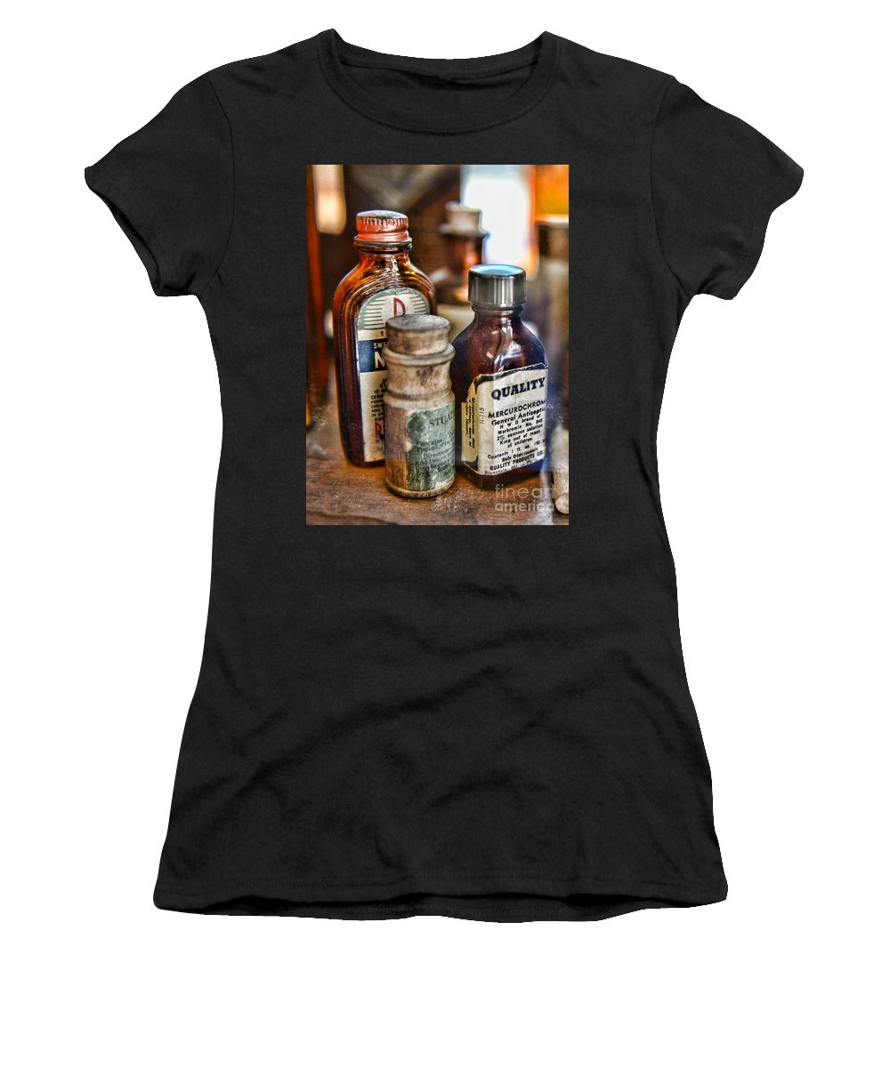 Paul Ward Women's T-Shirt (Athletic Fit) featuring the photograph Doctor The Mercurochrome Bottle by Paul Ward