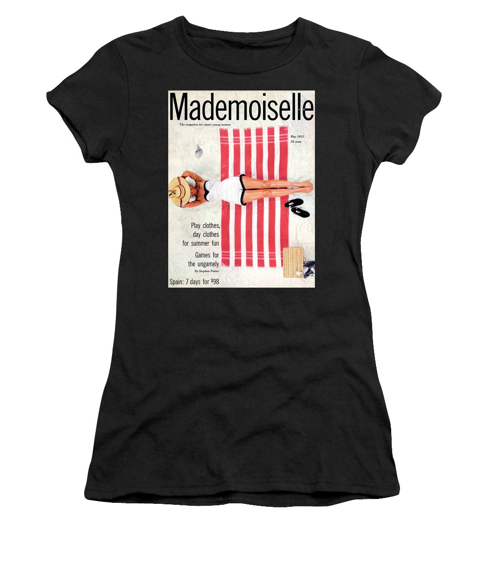 Fashion Women's T-Shirt featuring the photograph Dolores Hawkins On A Beach by Somoroff