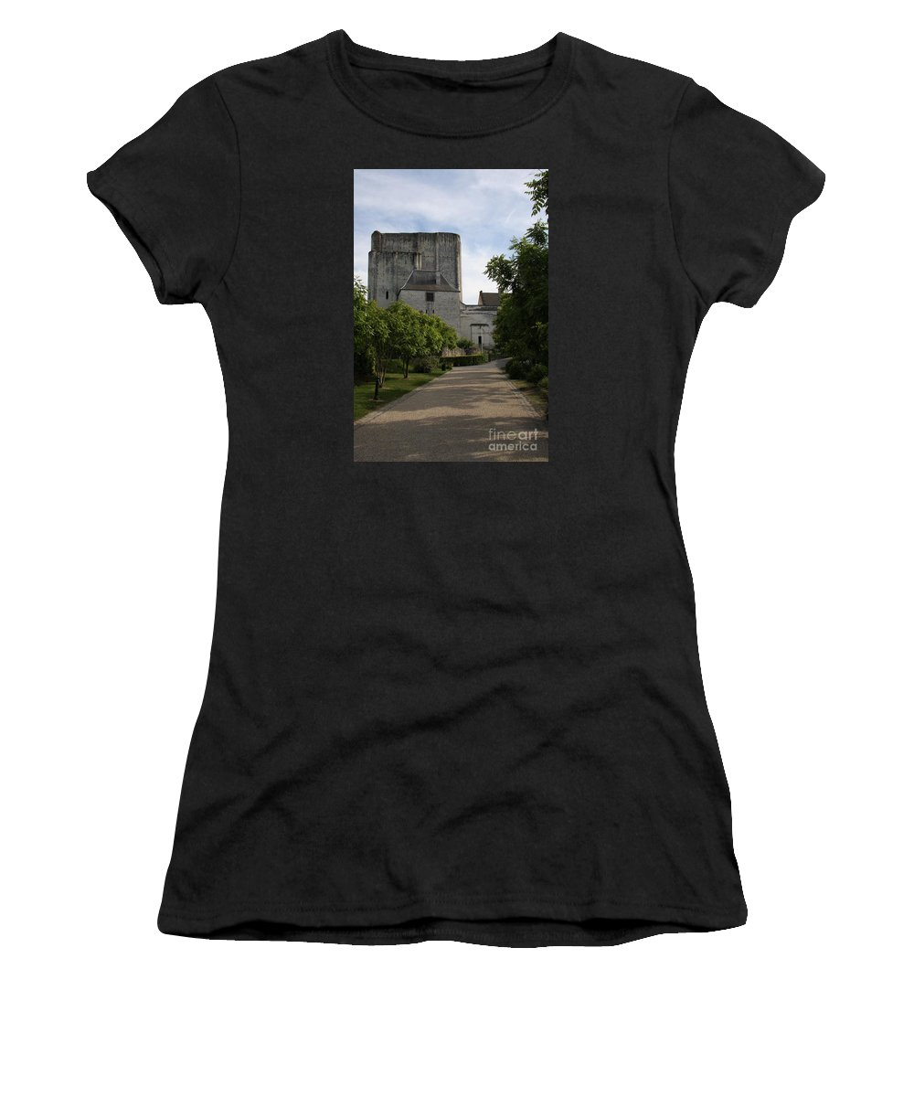 Donjon Women's T-Shirt (Athletic Fit) featuring the photograph Donjon Loches - France by Christiane Schulze Art And Photography