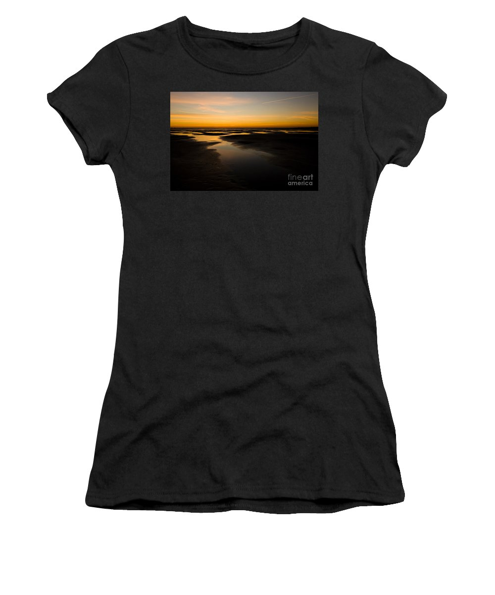 Annegilbert Women's T-Shirt (Athletic Fit) featuring the photograph Donna Nook Dawn by Anne Gilbert