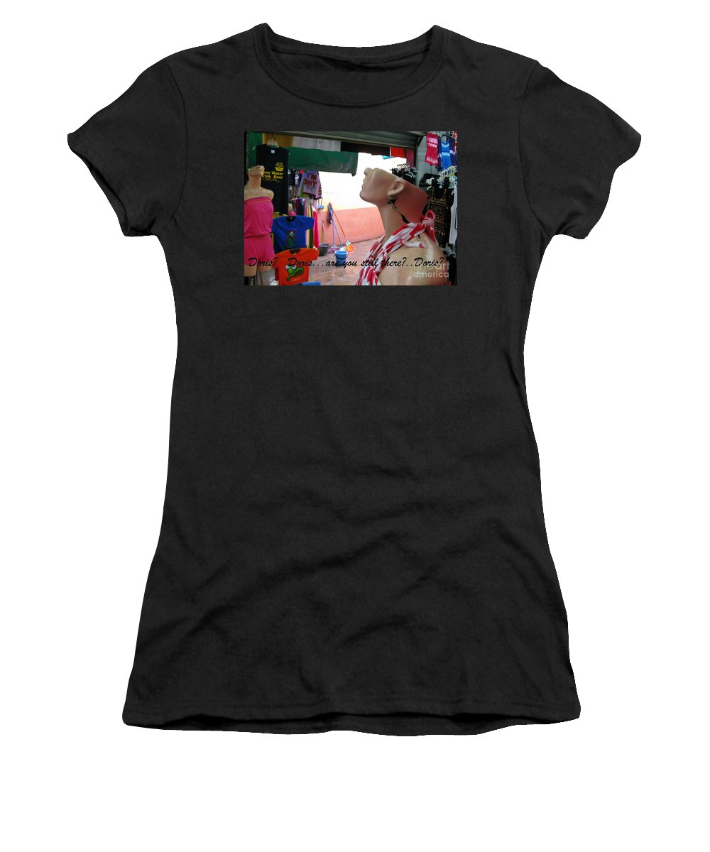 Doris  Are You Still There Women's T-Shirt (Athletic Fit) featuring the photograph Doris  Are You Still There by John Malone Canadian photographer