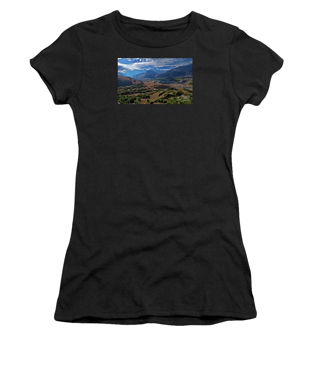 Drass Women's T-Shirt (Athletic Fit) featuring the photograph Drass... by Nina Stavlund