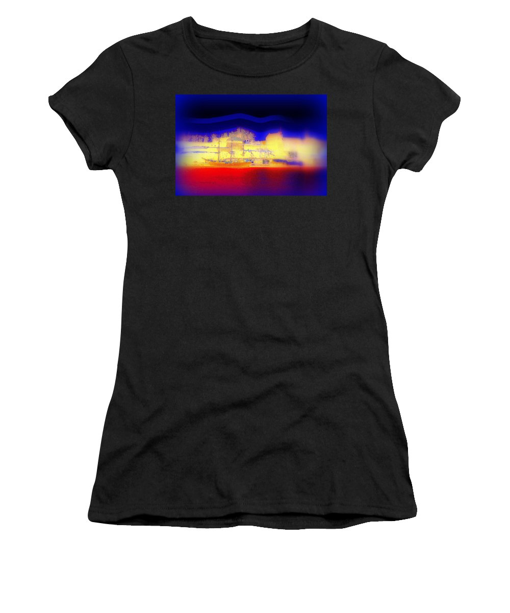 Dream Women's T-Shirt (Athletic Fit) featuring the photograph Dreaming Of Our Own Castle by Hilde Widerberg