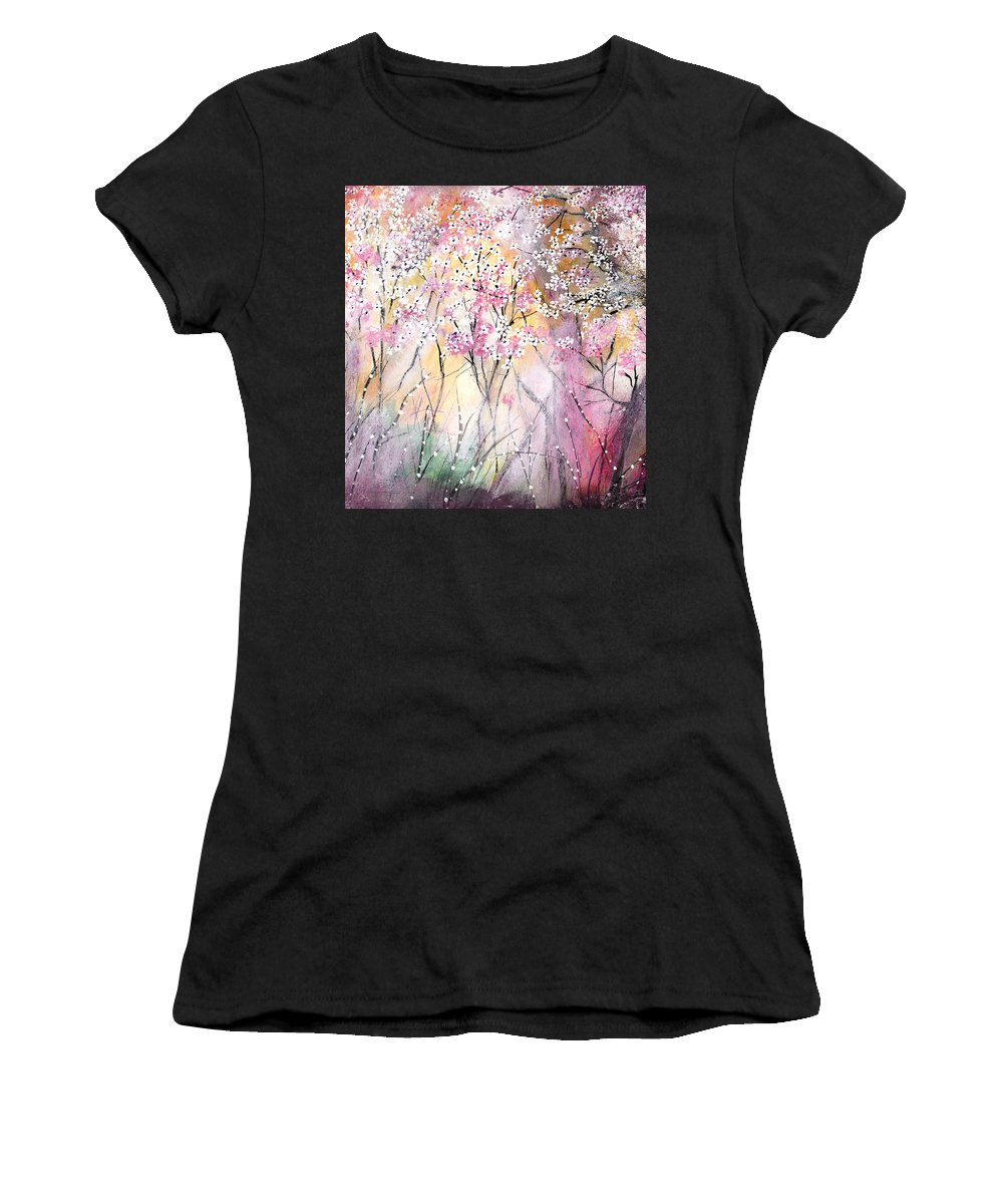 Spring Women's T-Shirt featuring the painting Dreaming Of Spring by Milenka Delic