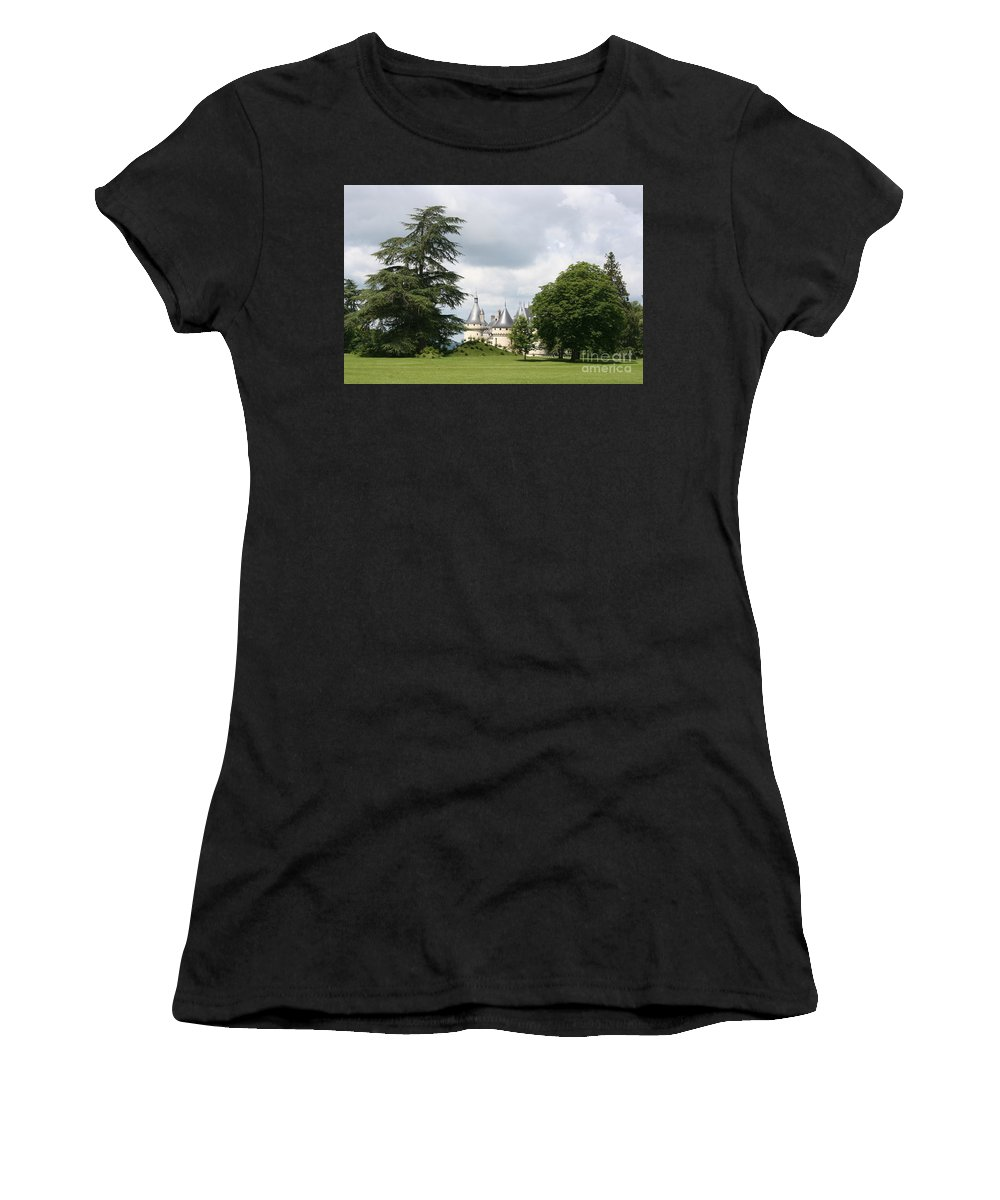 Palace Women's T-Shirt featuring the photograph Dreamlike - Chateau Chaumont by Christiane Schulze Art And Photography
