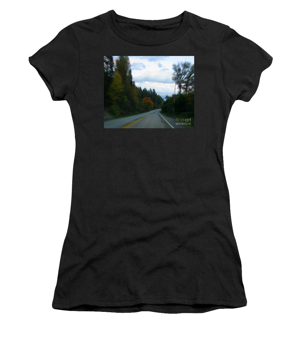 Highway Women's T-Shirt (Athletic Fit) featuring the photograph Driving by Leone Lund