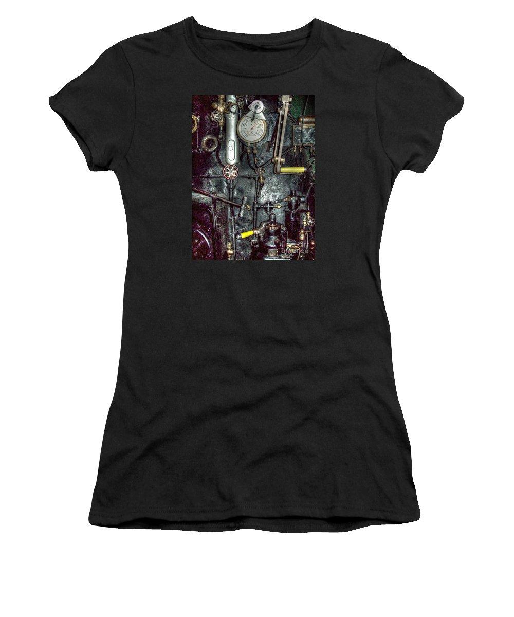Mj Olsen Women's T-Shirt featuring the photograph Driving Steam by MJ Olsen
