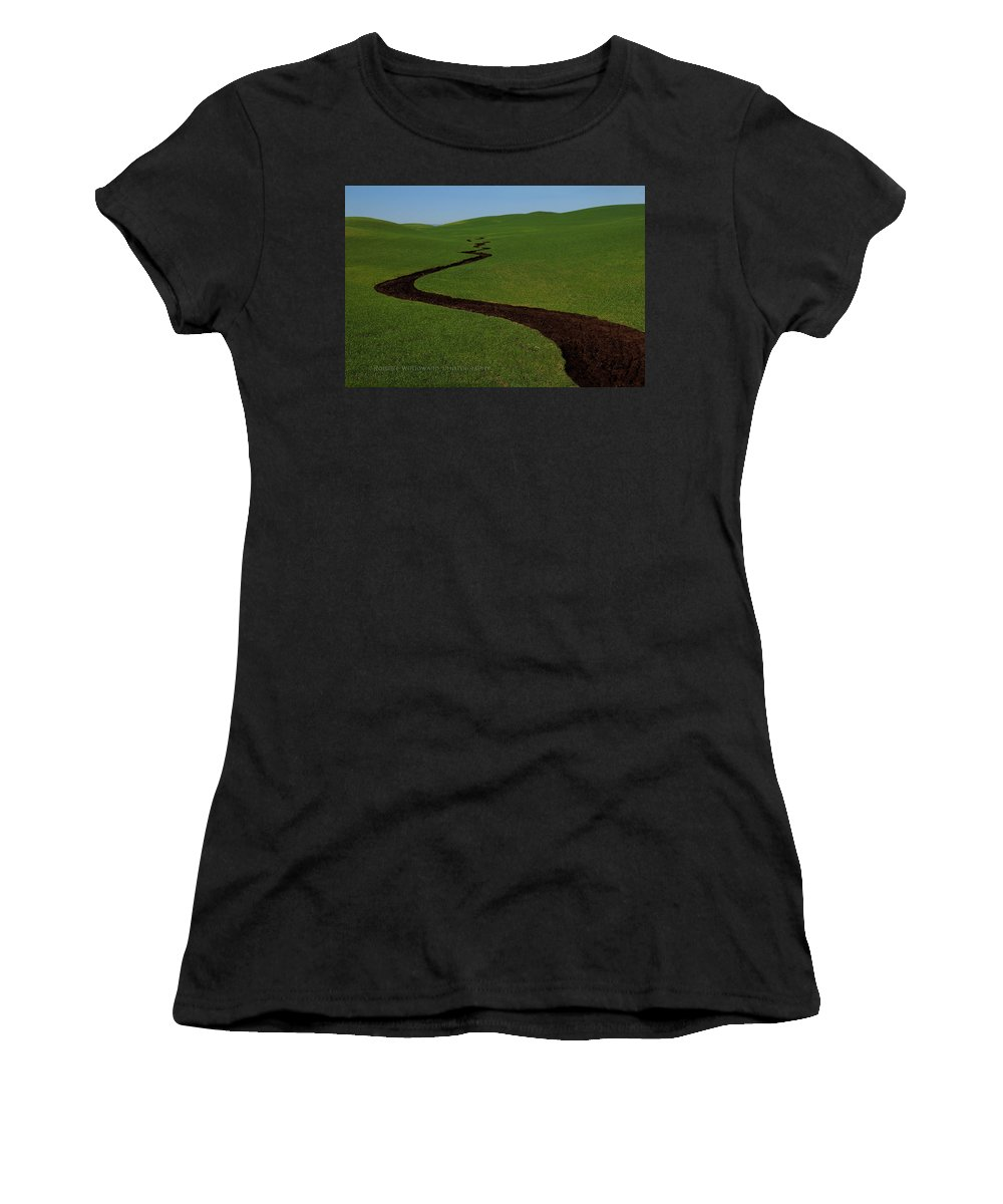 Dunnigan Women's T-Shirt (Athletic Fit) featuring the photograph Dunnigan Hills 1 by Robert Woodward