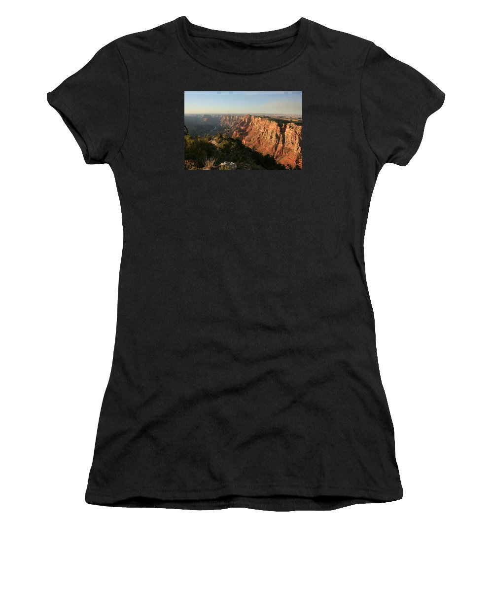 Grand Canyon Women's T-Shirt featuring the photograph Dusk At The Canyon by Susan McMenamin