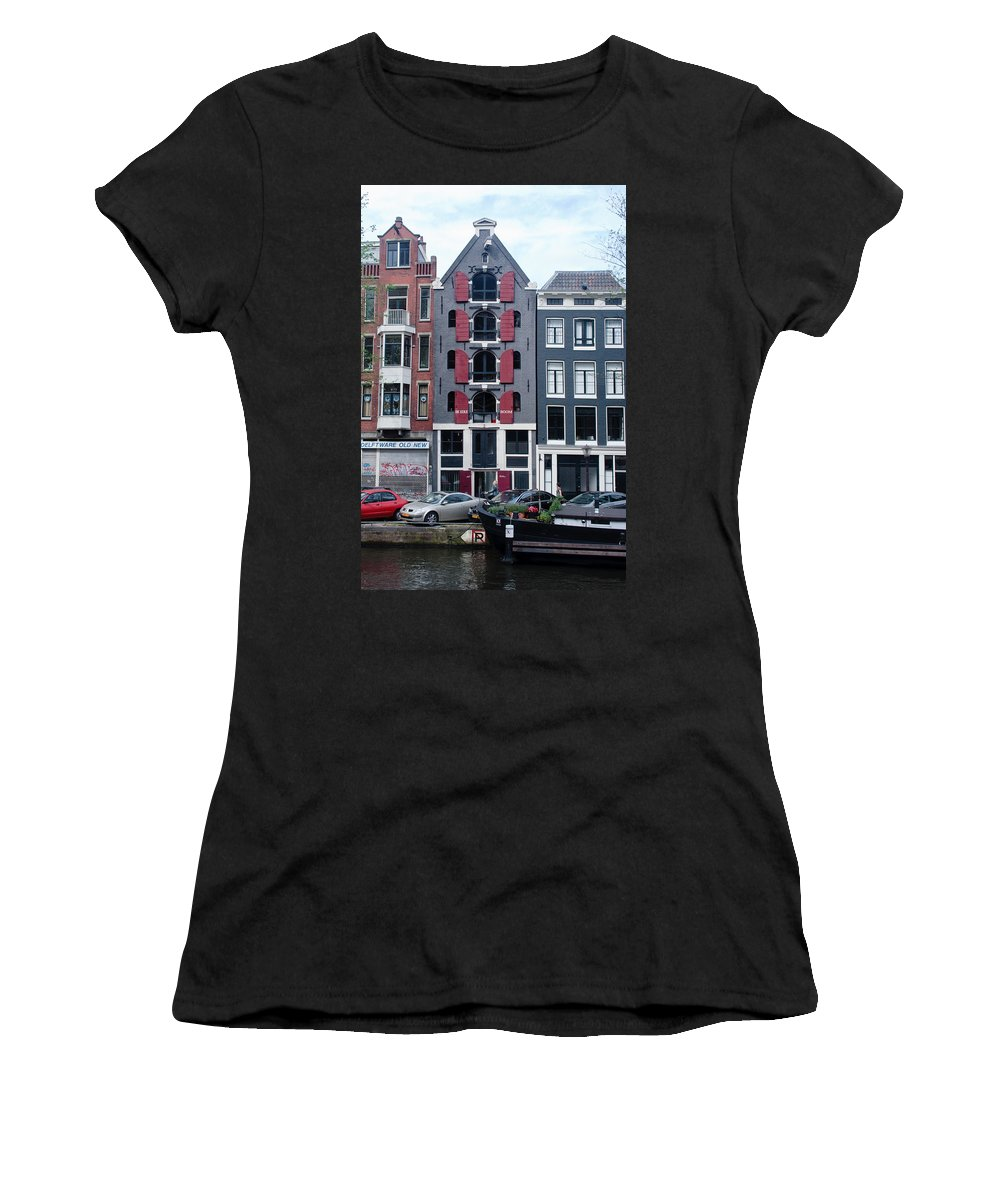 Amsterdam Women's T-Shirt featuring the photograph Dutch Canal House by Thomas Marchessault