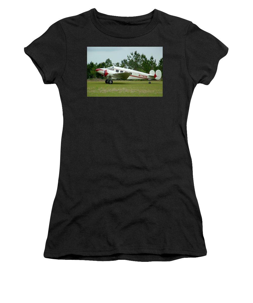 Beechcraft Model 18 Women's T-Shirt (Athletic Fit) featuring the photograph E18s Twin Beech by Matt Abrams