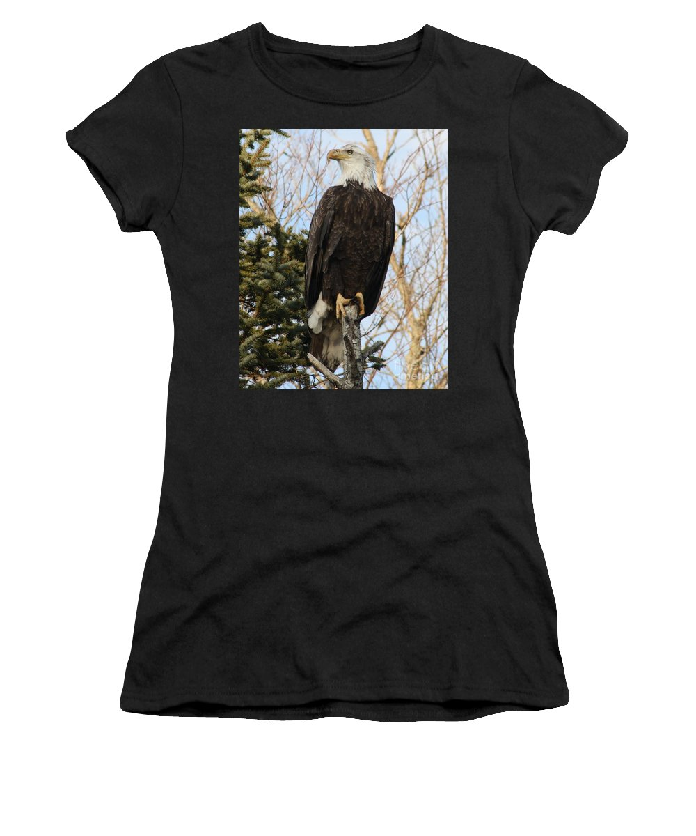 Eagle Women's T-Shirt featuring the photograph Eagle 1991a by Joseph Marquis