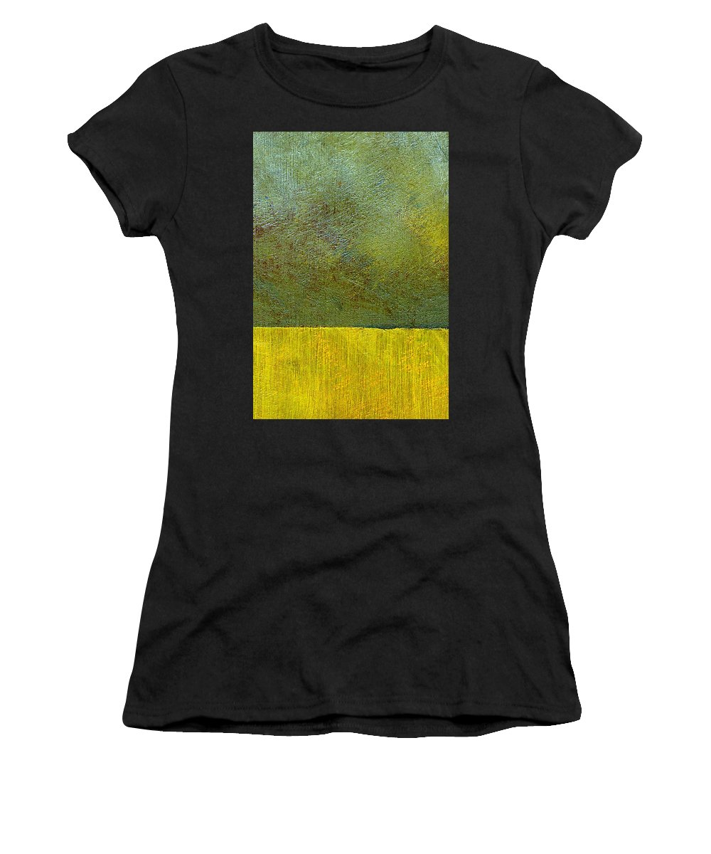 Abstract Landscape Women's T-Shirt (Athletic Fit) featuring the painting Earth Study Two by Michelle Calkins