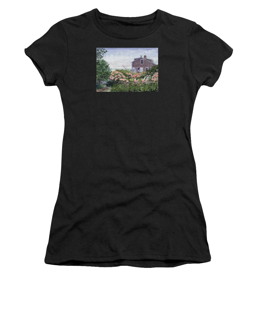 Nantucket Women's T-Shirt featuring the painting Eastward Look by Bill McEntee