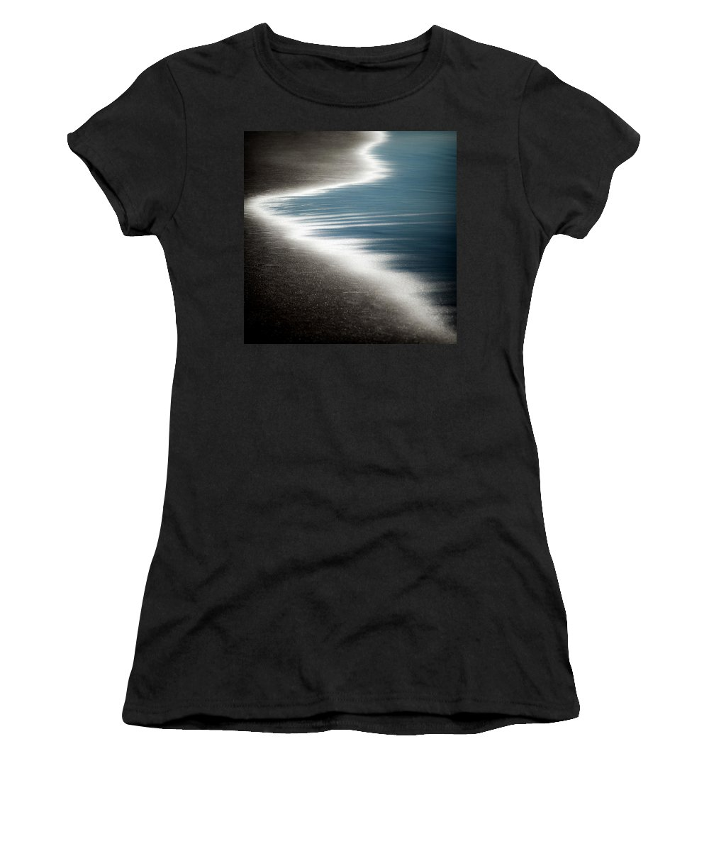 Beach Women's T-Shirt (Athletic Fit) featuring the photograph Ebb And Flow by Dave Bowman