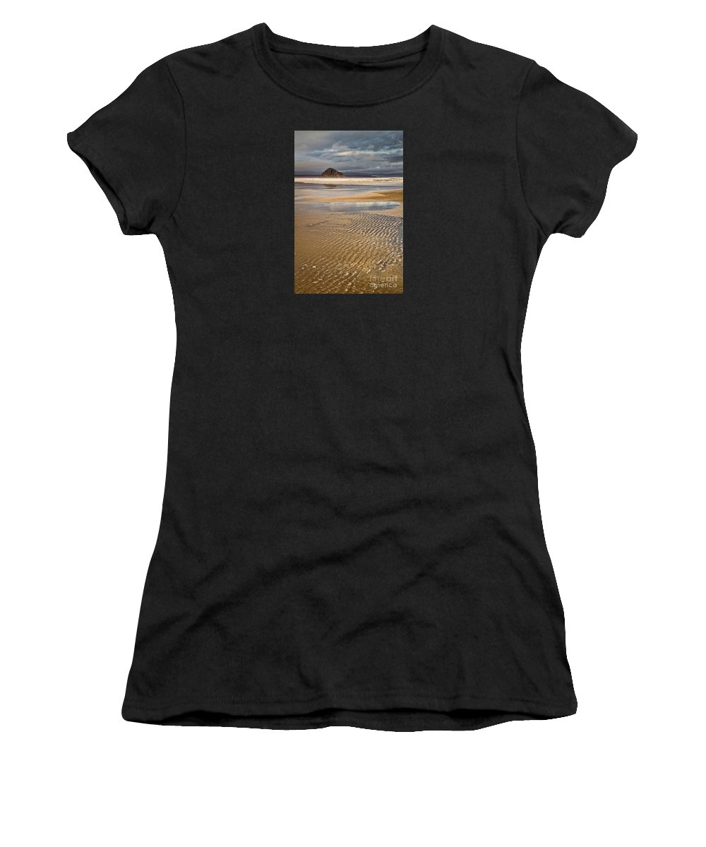 Morro Bay Women's T-Shirt (Athletic Fit) featuring the photograph Ebb Tide by Alice Cahill