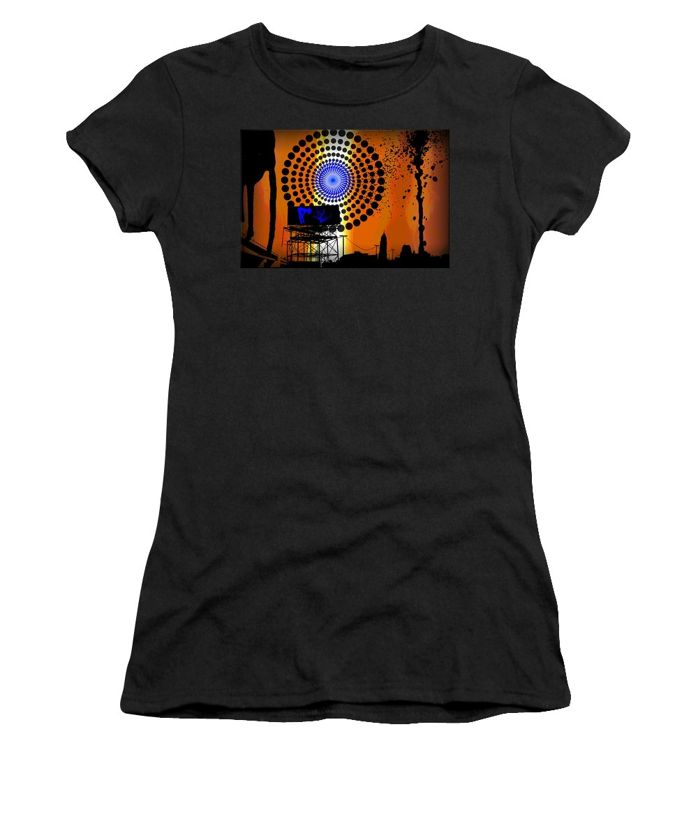 Electric Women's T-Shirt (Athletic Fit) featuring the digital art Electric Avenue by Michael Damiani