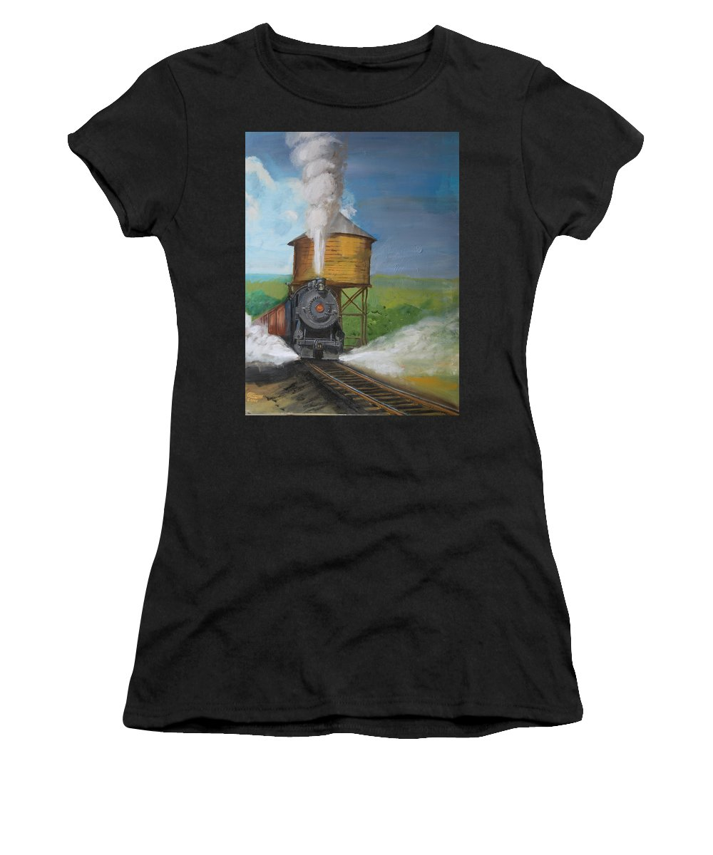 Pennsylvania Women's T-Shirt (Athletic Fit) featuring the painting Elmira Branch by Christopher Jenkins