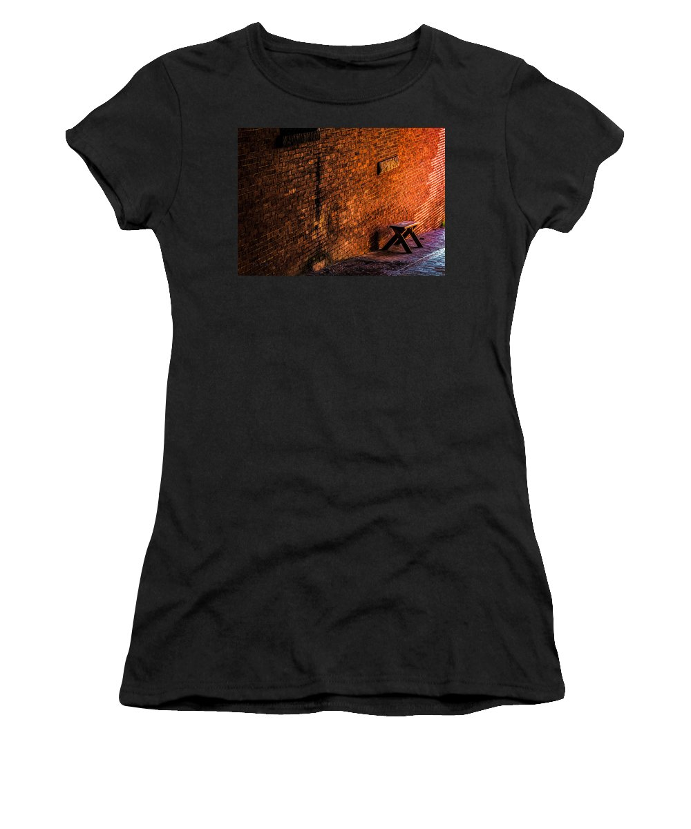 Landscape Women's T-Shirt featuring the photograph Empty Seat On A Hill by Bob Orsillo