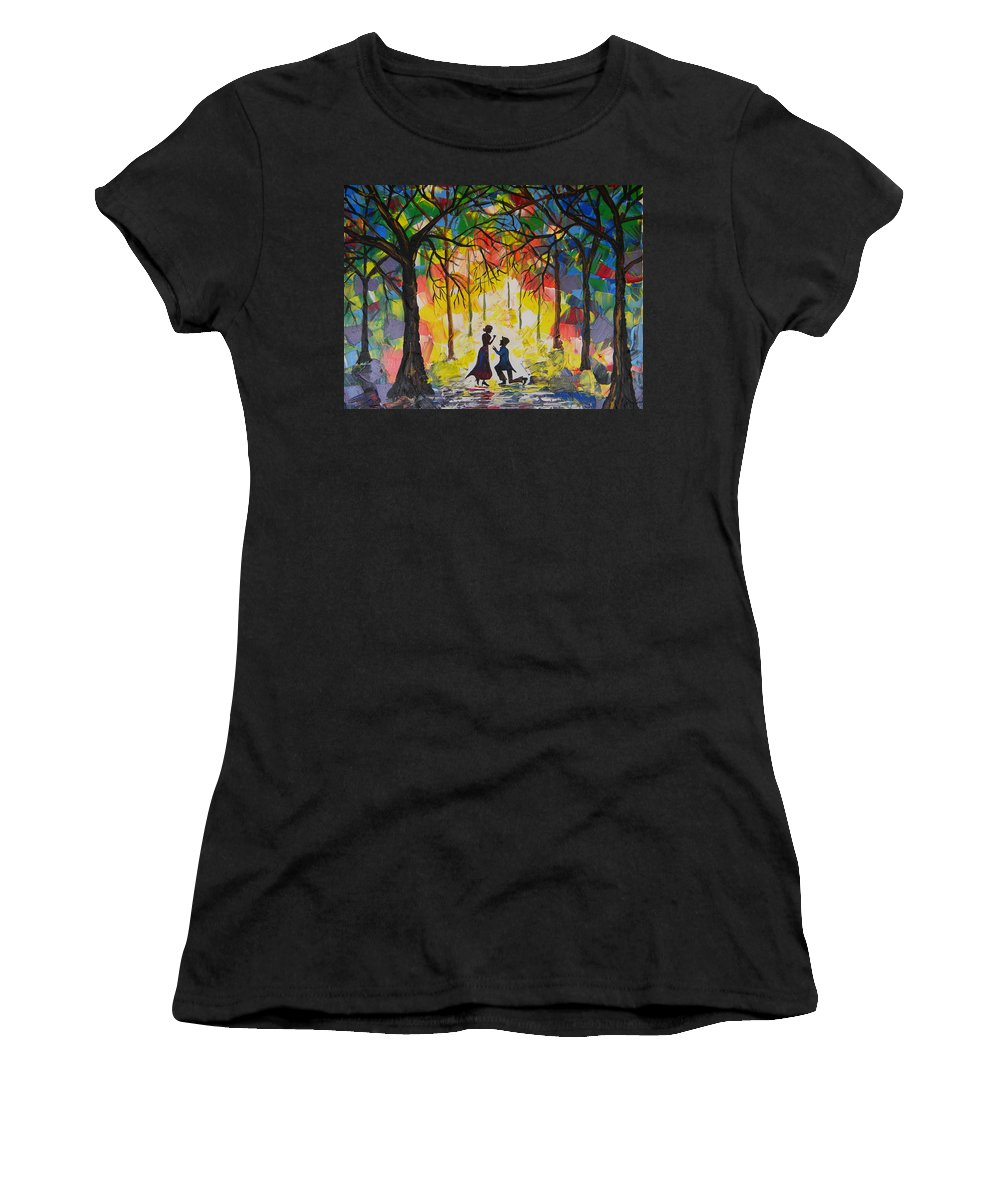 Enchanted Women's T-Shirt featuring the painting Enchanted Proposal by Eric Johansen