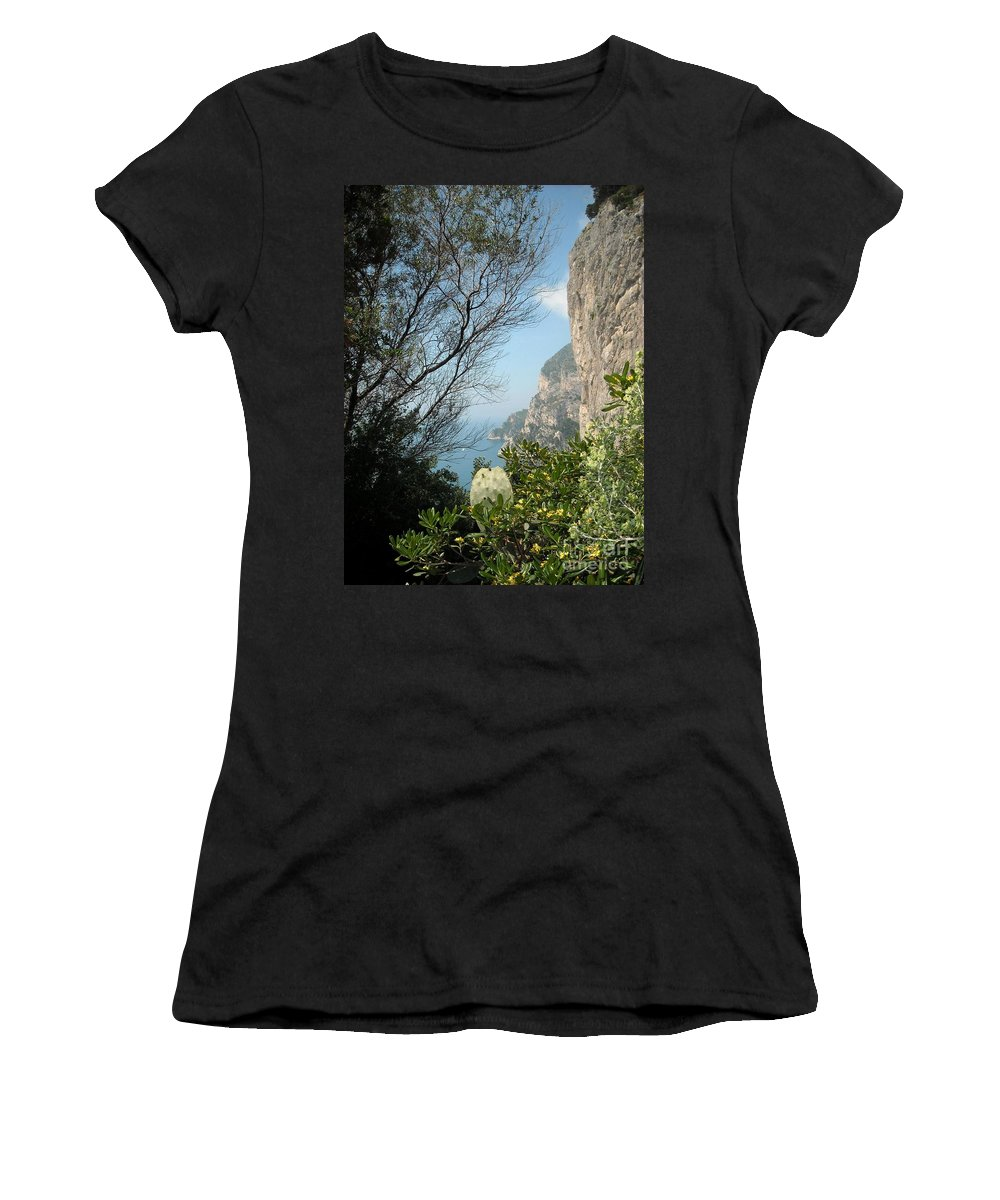 Positano Women's T-Shirt featuring the photograph Enclave Of Excellence by Lisa Kilby