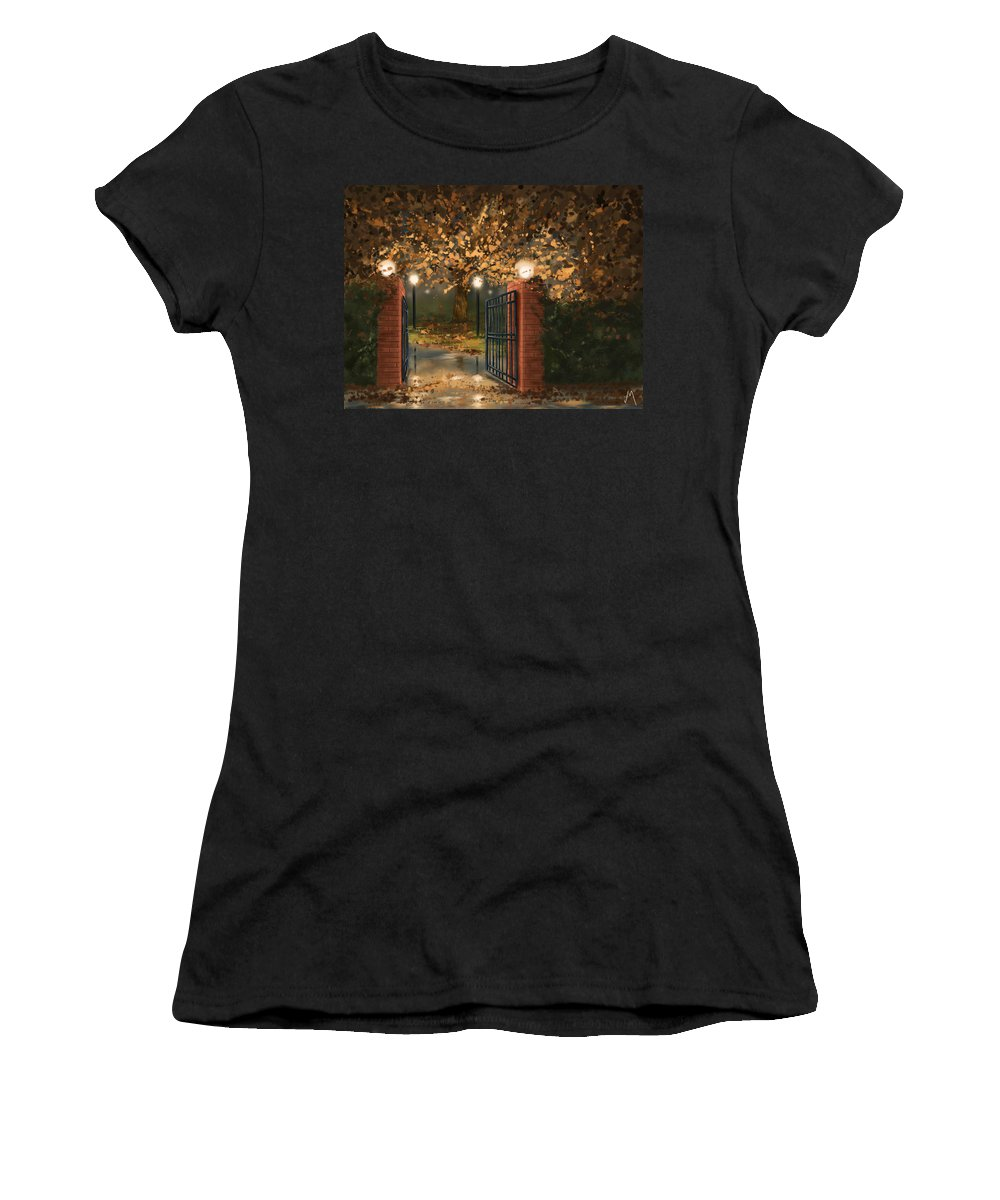 Autumn Women's T-Shirt featuring the painting Entry by Veronica Minozzi
