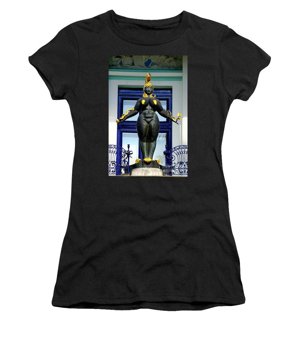 Ernst Fuchs Museum Statue Women's T-Shirt (Athletic Fit) featuring the photograph Ernst Fuchs Museum Nude Statue by Mariola Bitner