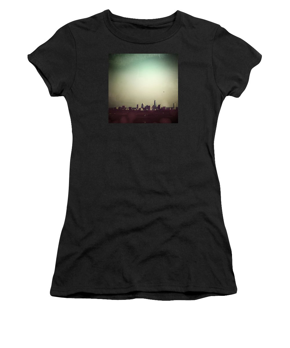 Bird Women's T-Shirt (Athletic Fit) featuring the photograph Escaping The City by Trish Mistric