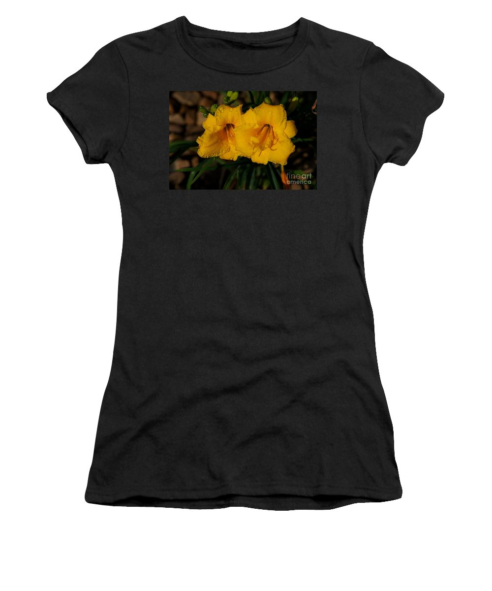 Daylily Women's T-Shirt (Athletic Fit) featuring the photograph Even So by Joseph Yarbrough