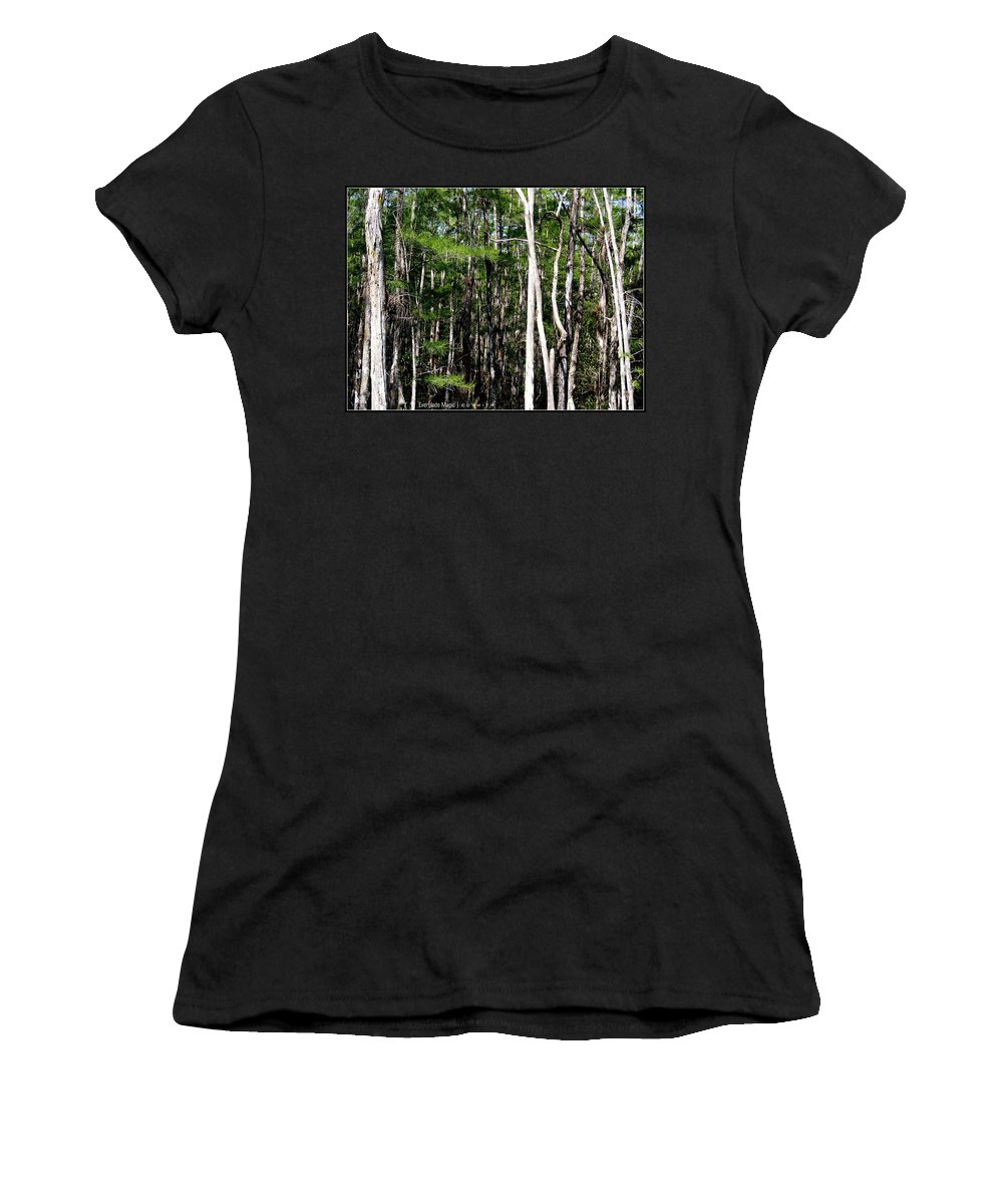 Everglade Magic Women's T-Shirt featuring the photograph Everglade Magic by Ed Smith