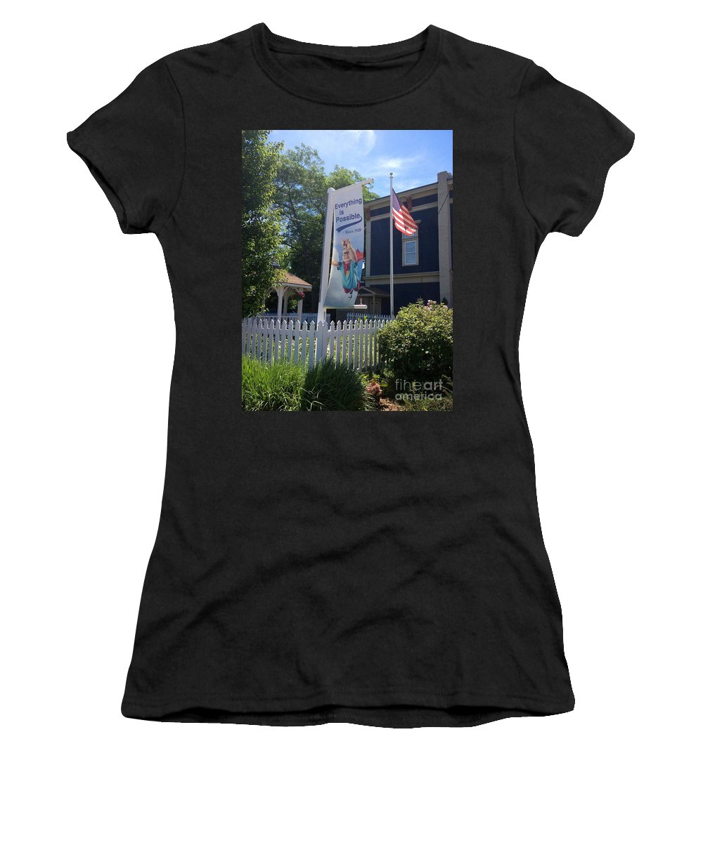Flag Women's T-Shirt (Athletic Fit) featuring the photograph Everything Is Possible by Beth Saffer