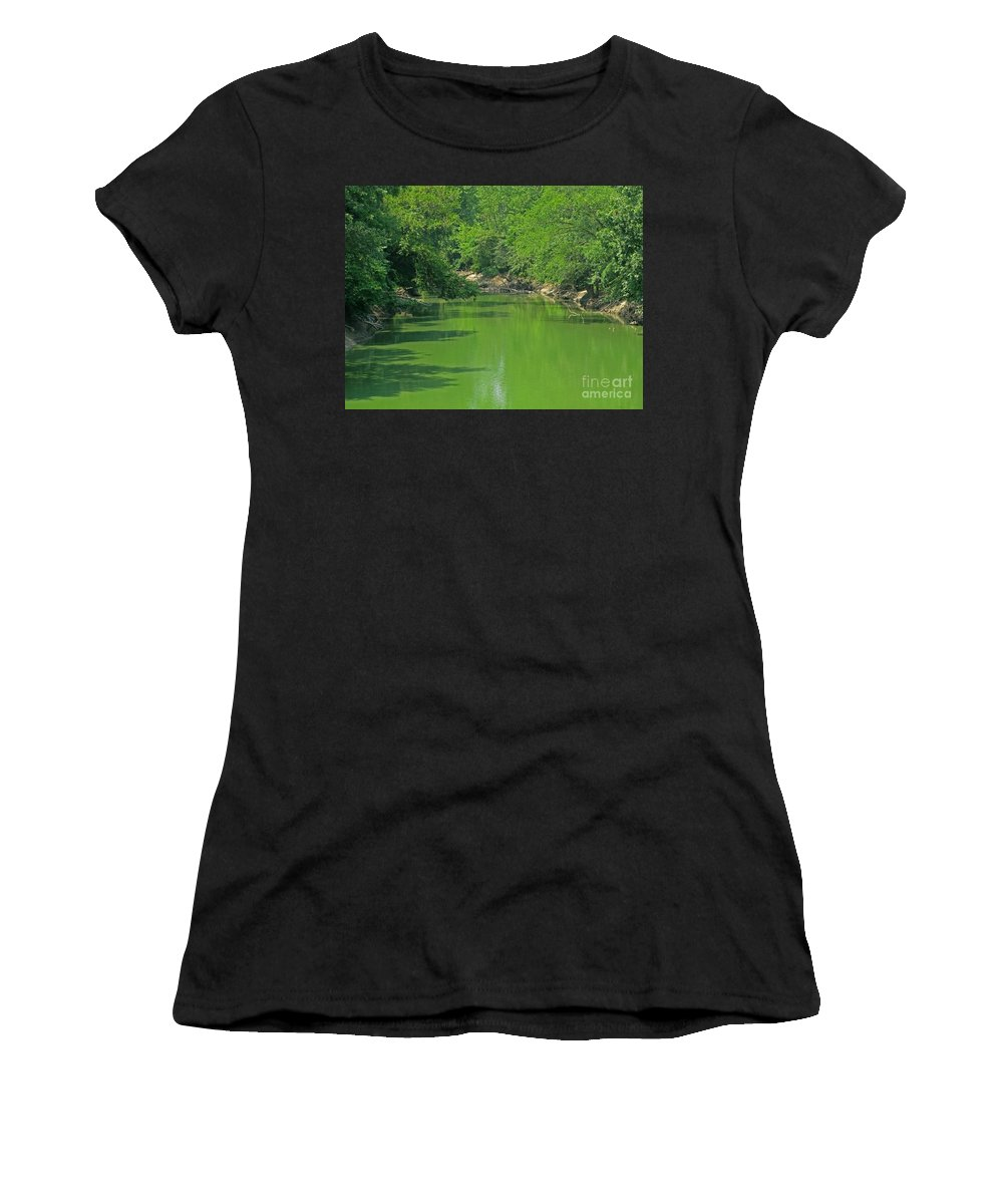 Green Women's T-Shirt (Athletic Fit) featuring the photograph Everywhere Green by Ann Horn