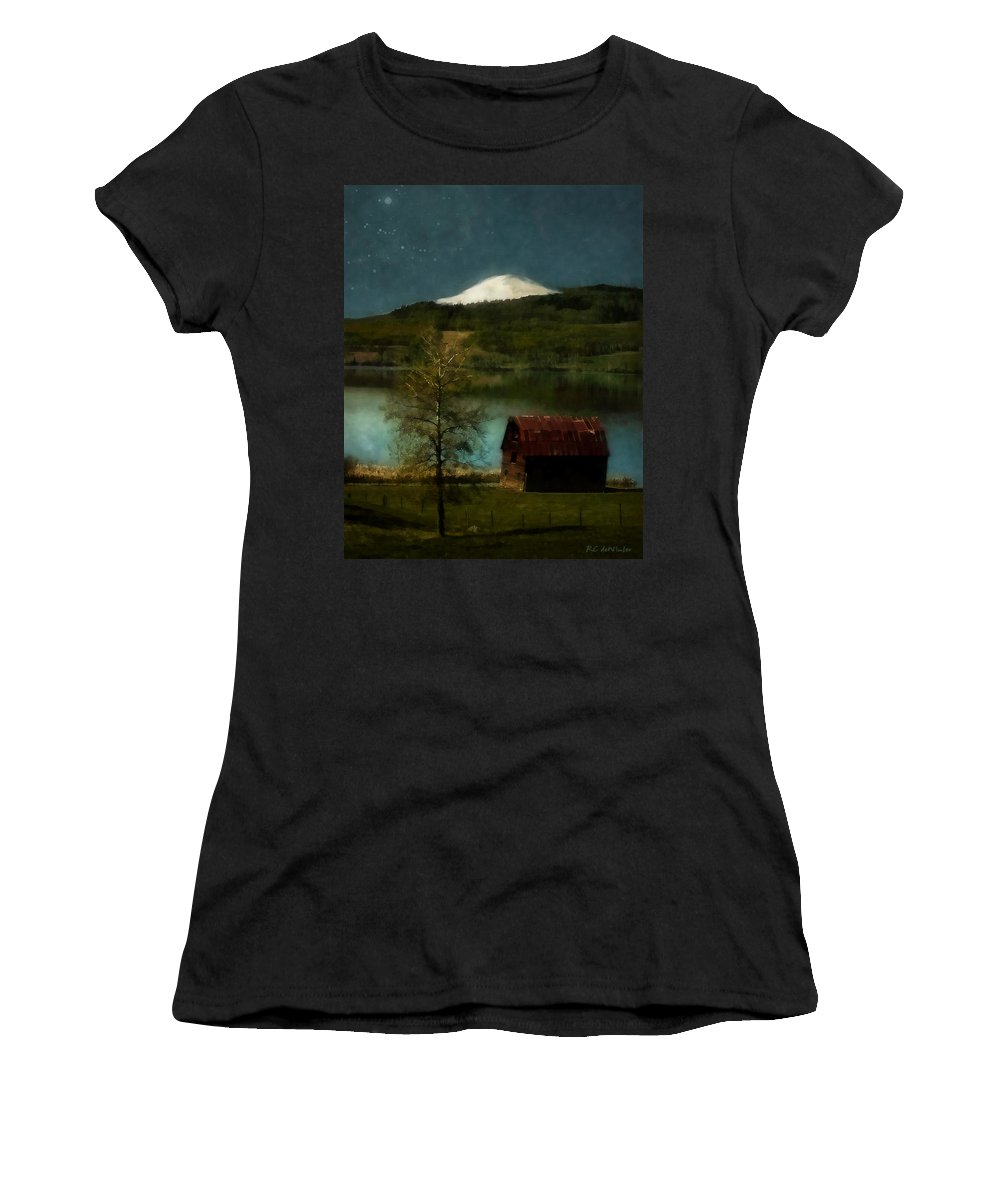 Landscape Women's T-Shirt (Athletic Fit) featuring the painting Excellence And Peace by RC DeWinter