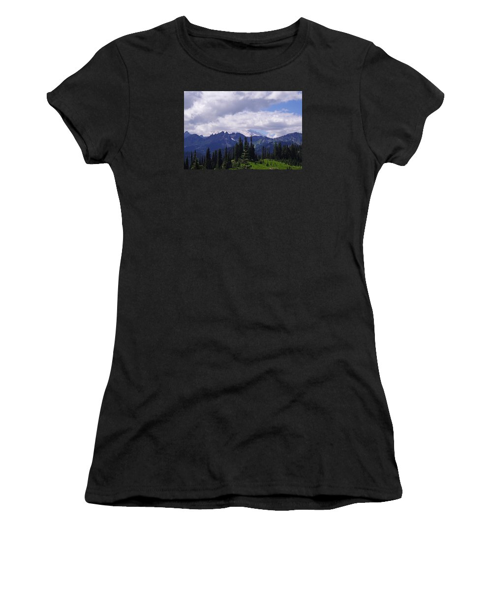 Extraordinary Women's T-Shirt featuring the photograph Extraordinary Heights by Mike and Sharon Mathews