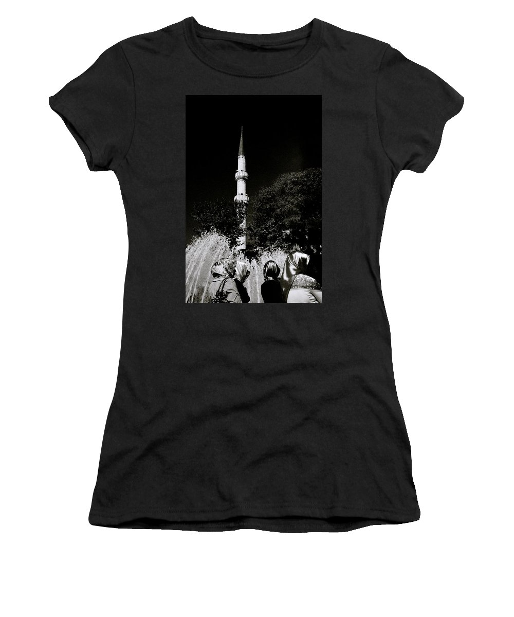 Chiaroscuro Women's T-Shirt (Athletic Fit) featuring the photograph Eyup by Shaun Higson