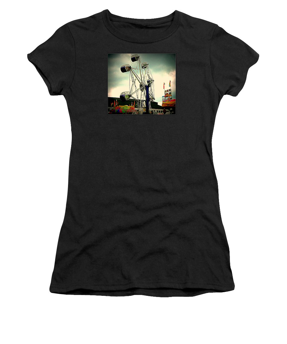 Carnival Women's T-Shirt featuring the photograph Fair Game by Kathy Barney
