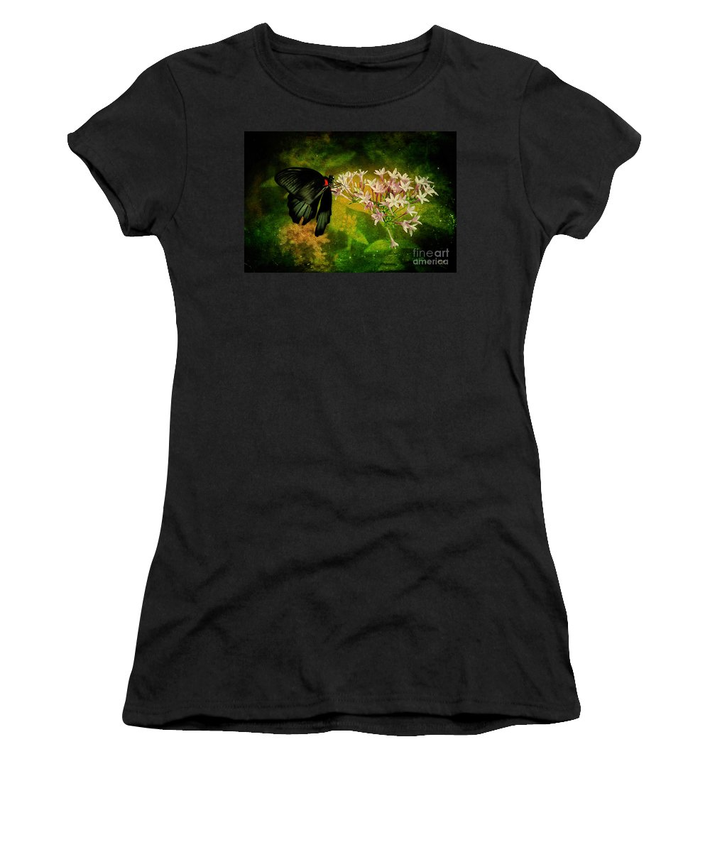 Butterfly Women's T-Shirt (Athletic Fit) featuring the photograph Fairyland by Lois Bryan