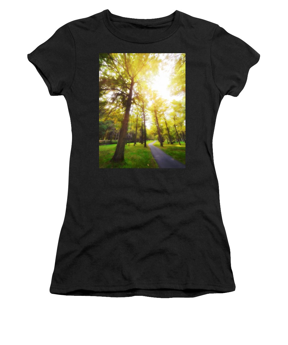 Fall Women's T-Shirt (Athletic Fit) featuring the photograph Fall I by Tina Baxter