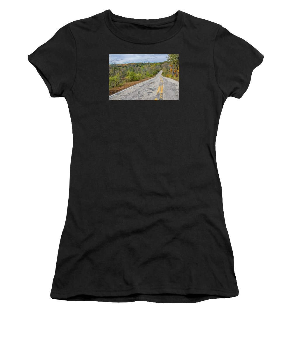 Fall Is In The Air Women's T-Shirt (Athletic Fit) featuring the photograph Fall Is In The Air by Susan McMenamin
