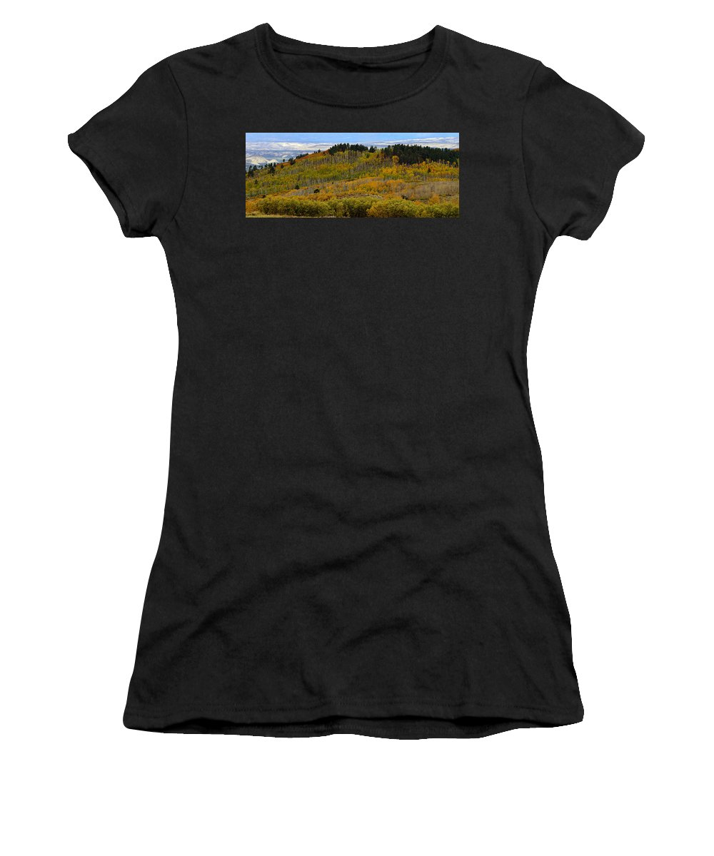 Fall Women's T-Shirt (Athletic Fit) featuring the photograph Falling On The Deserts Edge by David Lee Thompson