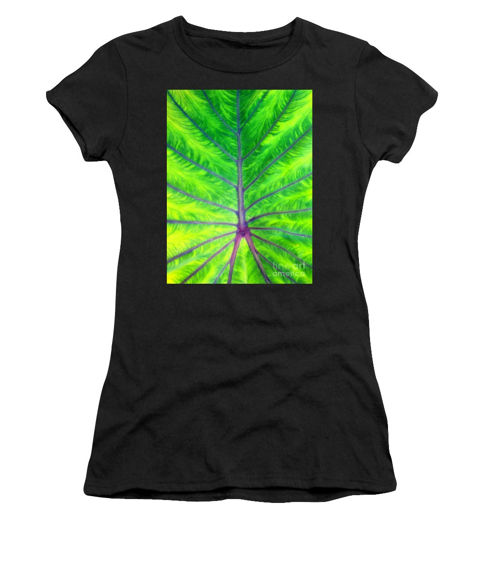 Ron Tackett Women's T-Shirt (Athletic Fit) featuring the photograph Fan Dance by Ron Tackett